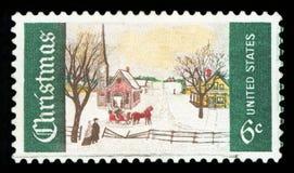 СОЕДИНЕННЫЕ ШТАТЫ АМЕРИКИ - Штемпель почтового сбора стоковая фотография rf