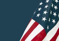 Соединенные Штаты играют главные роли Spangled флаги Стоковые Изображения