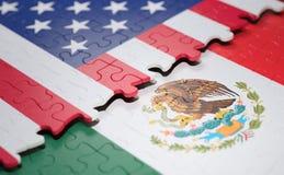 Соединенные Штаты и мексиканськая головоломка флага иллюстрация вектора