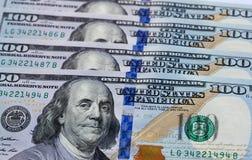 Соединенные Штаты 100 примечаний доллара Стоковые Фотографии RF