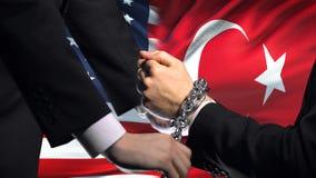 Соединенные Штаты санкционируют Турцию, прикованный конфликт оружий, политических или экономических видеоматериал