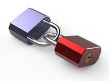 соединенные padlocks 2 Стоковое фото RF