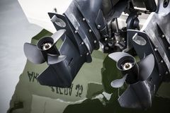 Соединенный мотор моторной лодки Стоковая Фотография RF