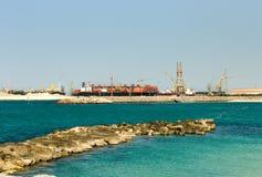 соединенный стержень перевозкы груза Дубай стоковое фото