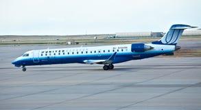 соединенный cl bombardier 600 авиакомпаний стоковые изображения rf