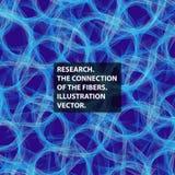 Соединительная ткань, волокно, вектор абстракции иллюстрация штока