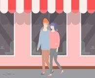 Соедините в любов идя вдоль шоу с крышей шатра бесплатная иллюстрация