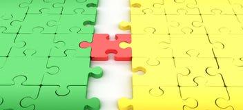 соедините головоломку зигзага Стоковое Изображение