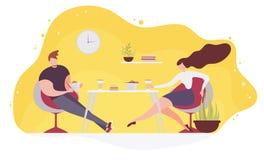 Соедините еду фаст-фуда в векторе кафа плоском бесплатная иллюстрация