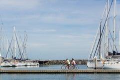 Соедините задействовать вдоль королевской пристани яхт-клуба Брайтона в Мельбурне стоковое изображение rf