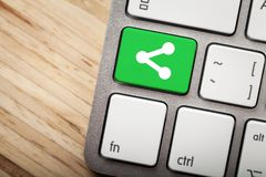 Соедините ключ на клавиатуре Стоковое Изображение