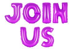 Соедините нас, фиолетовый цвет Стоковая Фотография