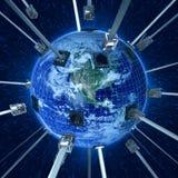соедините планету земли иллюстрация вектора
