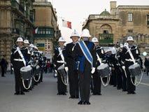 соедините полиций парада стоковое фото