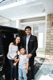 Соедините семью дела с их ребенк стоковое изображение