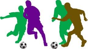 соединяет футбол иллюстрация вектора
