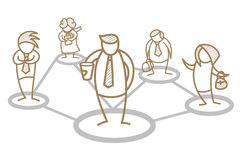 соединяться команды иллюстрация штока