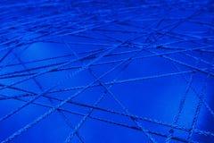 Соединяясь линии конец сетки сети веревочки пересекая вверх по конспекту трубопровода каналов сети стоковые фотографии rf