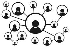 Соединяясь люди принципиальная схема цифрово произвела высокий social res сети изображения также вектор иллюстрации притяжки core Стоковая Фотография