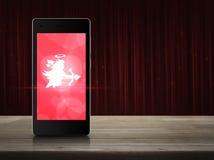 Соединение влюбленности интернета онлайн, концепция дня валентинок иллюстрация штока