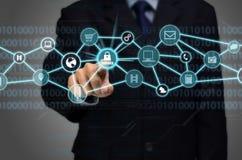 Соединение интернета обеспеченное Стоковые Фото
