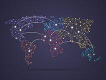 Соединение карты мира Стоковые Изображения RF