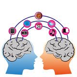 Соединение мозга иллюстрация вектора