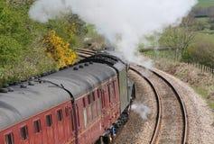 Соединение локомотива пара Южной Африки на испытательном пробеге Стоковые Фото