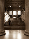 соединение поезда станции chicago Стоковые Фотографии RF