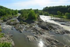 Соединение реки Winooski, Essex, Вермонт стоковые изображения rf