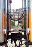 Соединение тележки 2 поездов стоковая фотография rf