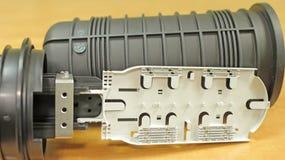 Соединение для соединяясь кабелей оптической связи Стоковые Изображения RF