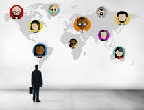 Соединение Conce сети глобальных людей мира общины социальное Стоковые Изображения RF