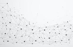 Соединения глобальной вычислительной сети с пунктами и линиями иллюстрация вектора