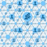 соединения принципиальной схемы chalkboard мелка дела классн классного рисуя social фото людей сети сети средств Стоковое Изображение RF