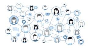 соединения принципиальной схемы chalkboard мелка дела классн классного рисуя social фото людей сети сети средств Стоковые Изображения