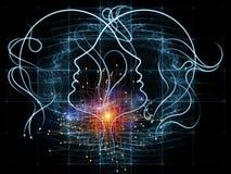 соединения 3d произвели людское изображение Стоковое Изображение