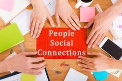 Соединения social людей Стоковая Фотография RF