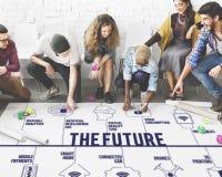 Соединенная будущим концепция технологии трутней стоковое изображение
