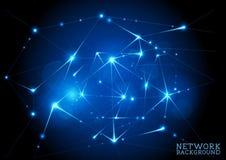 Соединенная предпосылка сети иллюстрация вектора