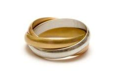 соединенные кольца Стоковое Изображение