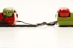 соединенные ретро телефоны Стоковое Фото