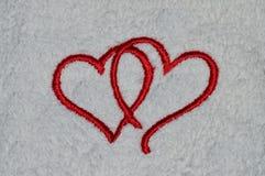 соединенные сердца Стоковые Фото