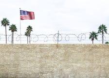 Соединенные Штаты граничат стену стоковое изображение rf