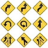 Соединенные Штаты предупреждая дорожные знаки MUTCD иллюстрация штока