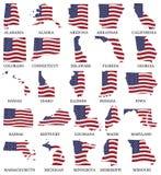 Соединенные Штаты сигнализируют карты от a к m бесплатная иллюстрация