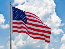 Соединенные Штаты сигнализируют развевать Стоковые Фото