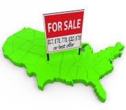 Соединенные Штаты для продажи бесплатная иллюстрация
