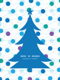 Соединенный вектор ставит точки силуэт рождественской елки Стоковые Изображения RF