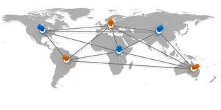 соединенный мир Стоковая Фотография RF